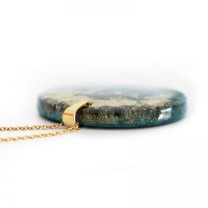 Pandantiv Terrae albastru cu auriu metalizat