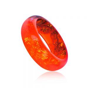 brățară bangle roșie din rășină epoxidică, bijuteri handmade unicat