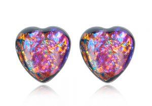 cercei mici in forma de inima