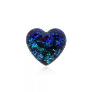 Bijuterii insignă inimă din rășină epoxidică transparentă, broșă cu ac de siguranță, inimă cadou, inima albastră, albastru regal, albastru egee, albastru turcoaz, albastru grecesc, reflexii xolorate, reflexii strălucitoare