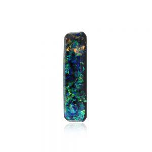 Bijuterii geometrice dreptunghi broșă elegantă rever sacou, broșă din rășină epoxidică transparentă, broșă elegantă cu ac de siguranță, bijuterii rochie verde